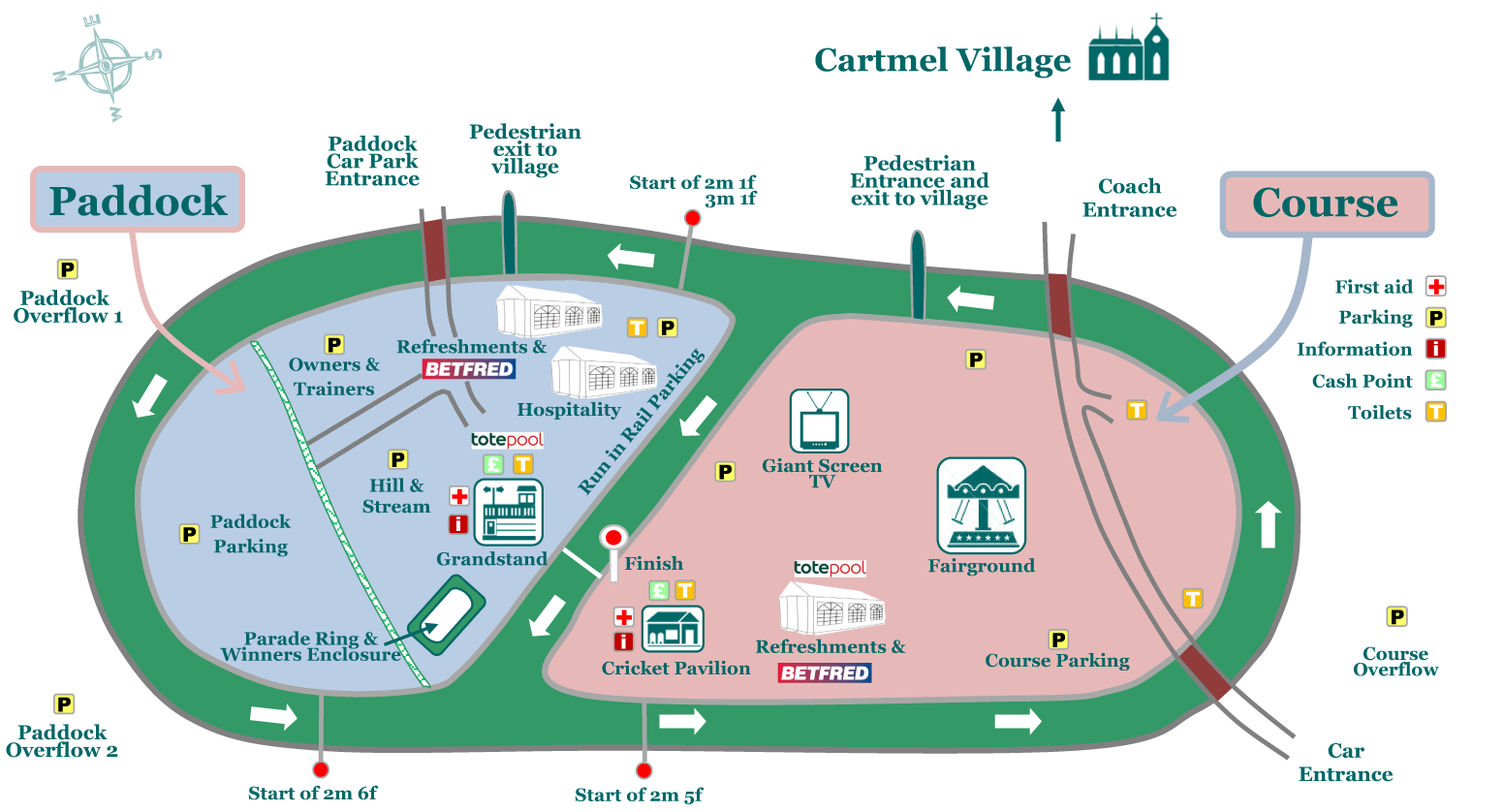 Map Of Ireland Racecourses.August Meeting Saturday 24th August 2019 Cartmel Racecourse
