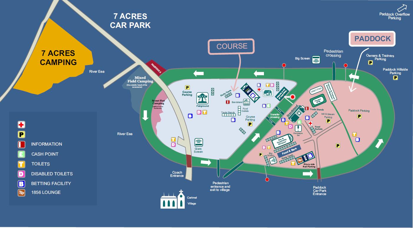 Map Of Ireland Racecourses.Plan Your Visit Cartmel Racecourse